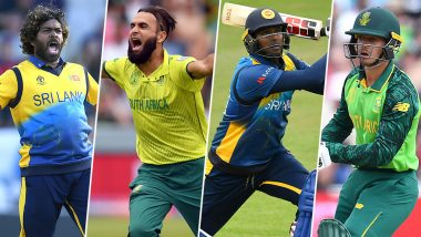 SL vs SA, ICC Cricket World Cup 2019, Key Players: Lasith Malinga, Imran Tahir and Other Cricketers to Watch Out for in Durham