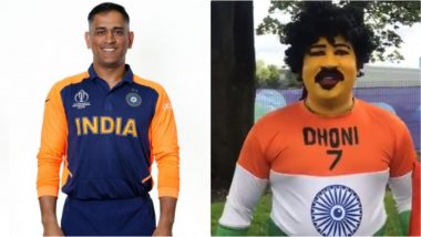 MS Dhoni's Superfan Saravanan Hari Cheers For Team India Ahead of Their Big Match Against England in ICC CWC 2019 (Watch Video)