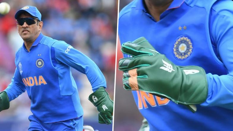 MS Dhoni's Army Insignia Gloves Controversy: BCCI Requests ICC to Allow MSD's 'Balidan Gloves' In Cricket World Cup 2019