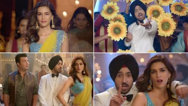Main Deewana Tera Song from Arjun Patiala: Kriti Sanon, Diljeet Dosanjh and Varun Sharma Recreate Ranbir Kapoor's Iconic Badtameez Dil Step (Watch Video)