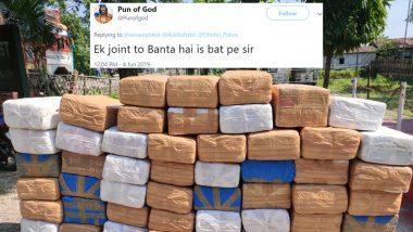 Assam Police's Tweet on Seizing 600 Kgs of Marijuana Gets Twitterati High on Sarcasm, Check Funny Tweets