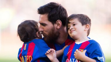 Lionel Messi's Son Thiago Imitates Mohamed Salah While Playing in the Backyard; Wonder If It Brings Him Memories of Champions League 2019 Liverpool vs Barcelona (Watch Video)