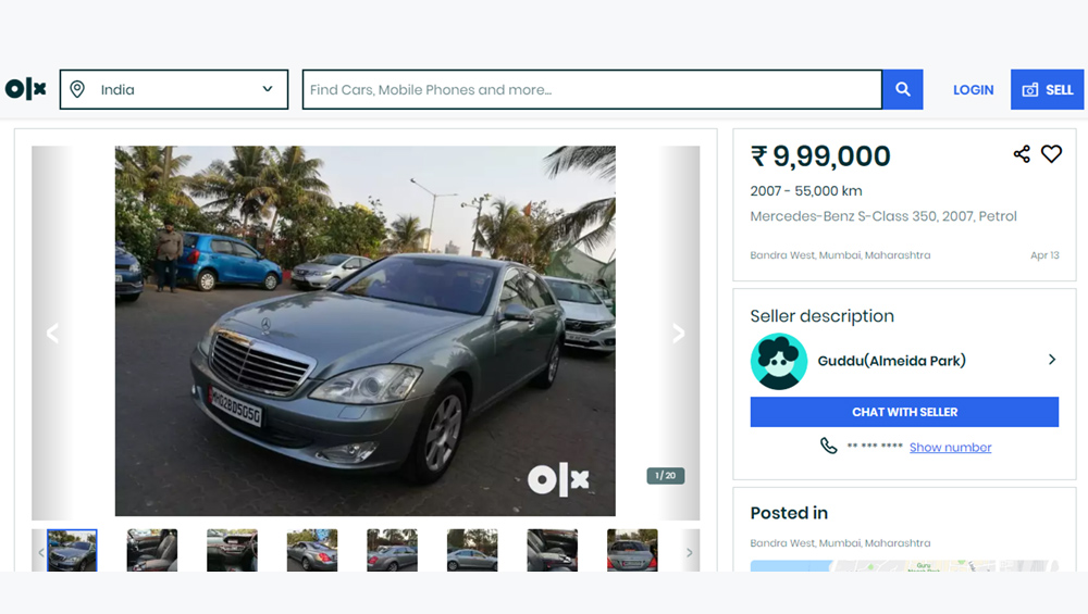 Amitabh Bachchan's Old Car Mercedes Benz S-Class is on Sale on OLX