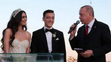 Mesut Ozil Marries Amine Gulse in Istanbul, with Turkish President Recep Tayyip Erdogan as Best Man (View Wedding Pics)
