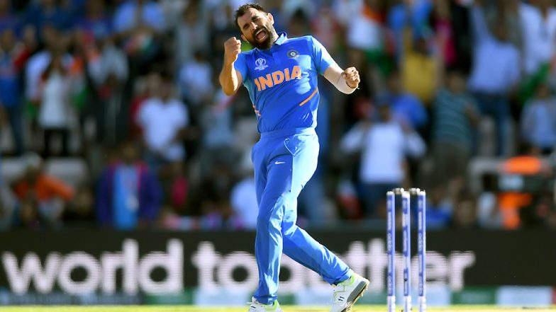 Mohammed Shami Scalps Four-Wicket Haul Against Australia in 3rd ODI, Equals Anil Kumble & Javagal Srinath's Record
