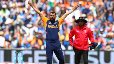 Mohammed Shami Takes His First Five-Wicket in World Cups During IND vs ENG, ICC CWC 2019 Match at Edgbaston