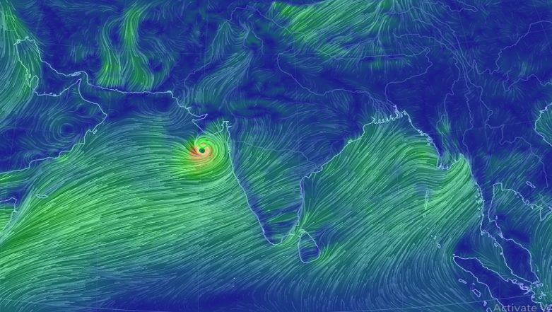 Cyclone Vayu Live Tracker: Watch Real-Time Movement Of Cyclonic Storm on earth.nullschool.net