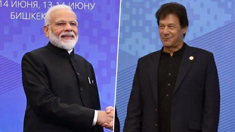 Narendra Modi Exchanges Pleasantries With Pakistan PM Imran Khan at SCO Summit Sidelines