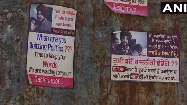 'Navjot Singh Sidhu, When Are You Quitting Politics?' Posters Emerge In Mohali Reminding Punjab Congress Leader Of His Promise