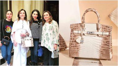 Nita Ambani's Rs 2.6 Crore Himalaya Niloticus Crocodile Hermès Birkin Bag With 240 Diamonds and 18-Karat-Gold Goes Viral (View Pics)