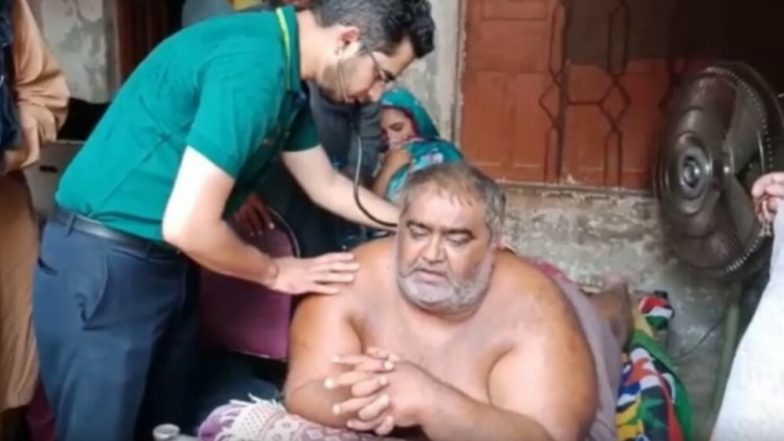 Pakistan's 'Heaviest' Man Noor Hassan Shifted to Lahore Hospital After Army Breaks Wall to Pull Him Out