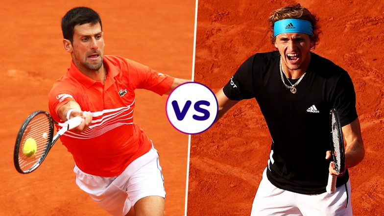 Novak Djokovic vs Alexander Zverev, French Open 2019 Quarter-Final Live Streaming: Get Free Live Telecast Online, Match Time in IST and Channel Details in India