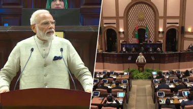 PM Narendra Modi Addresses Maldives Parliament, Says 'India Will Contribute in Conservation of Maldives' Friday Mosque'