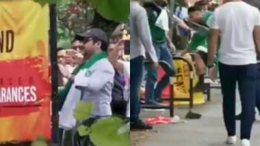 Pakistan Cricket Fans Tear Down Pro-Balochistan Posters Outside Lord's Stadium During CWC 2019 Pak vs SA Match (Watch Video)