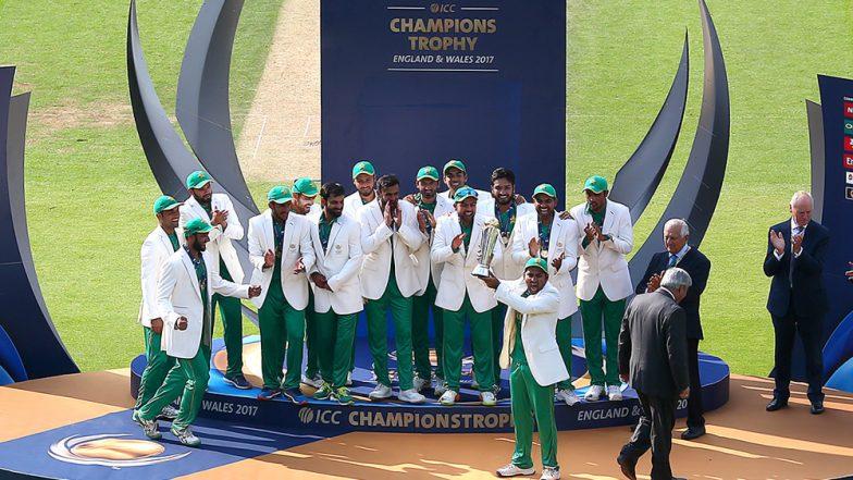 Sarfaraz Ahmed-Led Pakistan Cricket Team Gets Nostalgic As They Walk Down the Memory Lane on 2017 Champions Trophy Triumph (Watch Video)
