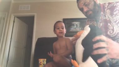 Can Hitting Your Children's Stuffed Toys Convince Them to Eat? Viral Video of This Dad Shows The Correct Way