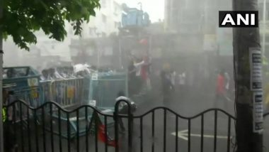 West Bengal: BJP Protest March Against TMC in Kolkata Turns Violent, Police Resort to Tear Gas, Water Cannons and Baton Charge