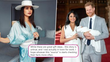 Priyanka Chopra Jonas Slams a Tabloid After It Reports of Her Meeting Meghan Markle and Gifting Baby Archie Tiffany Jewels