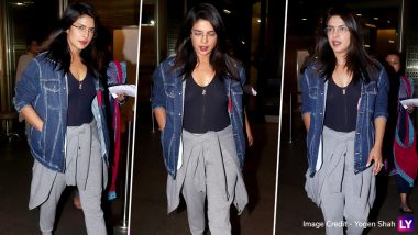 Priyanka Chopra is Back in Bombay and We Are Drooling Over Her Chic Airport Look!