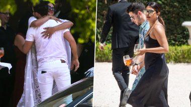Priyanka Chopra and Nick Jonas Arrive at Joe Jonas and Sophie Turner's Wedding Venue - View Pics