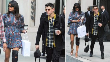 Priyanka Chopra Steps Out With Nick Jonas in NYC Looking Gorgeous in a Mini Dress But Her Kneecap Suggests She's Still Not Recovered - See Pics