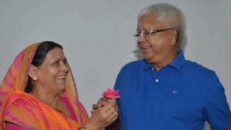 Rabri Devi Wishes Lalu Prasad Yadav on His Birthday, Says 'Congratulations on 72nd incarnation day'