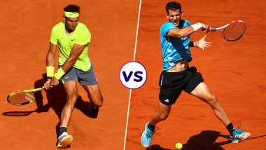 Rafael Nadal vs Dominic Thiem, French Open 2019 Final Match Live Streaming: Get Free Live Telecast Online, Match Time in IST and Channel Details in India