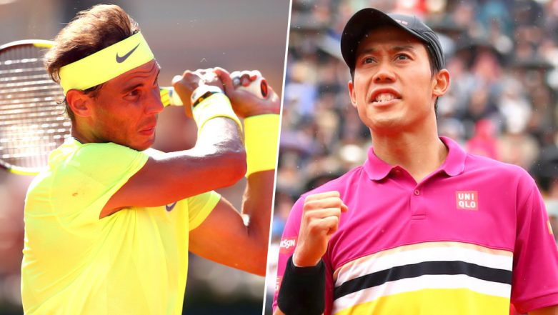 Rafael Nadal vs Kei Nishikori, French Open 2019 Quarter-Final Live Streaming: Get Free Live Telecast Online, Match Time in IST and Channel Details in India