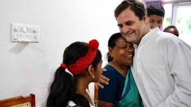 Rahul Gandhi Meets Retired Wayanad Nurse Rajamma Vavathil Who Held Him as a Newborn in Delhi Hospital (See Pictures)