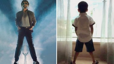 Rajinikanth's Daughter Soundarya Shares an Adorable Click of her Son Imitating his Grandfather's Petta Pose - View Pic