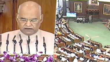 President Ram Nath Kovind Addresses Joint Session of Parliament; From Modi Govt's Welfare Policies to Balakot Air Strikes, Here Are Highlights Of His Speech