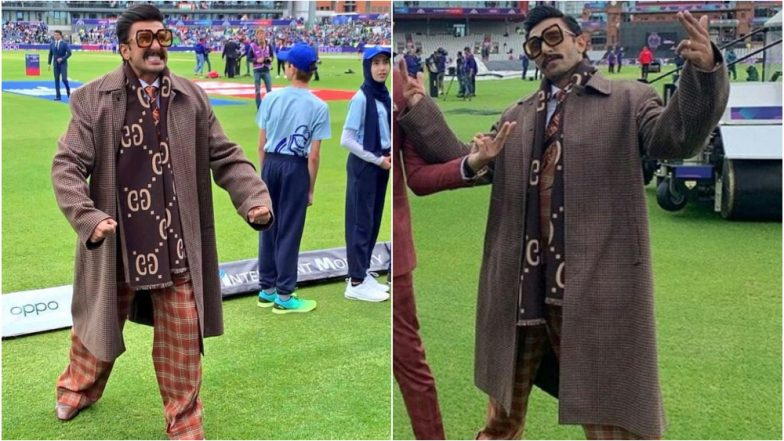 Ranveer Singh's 'Gangster' Outfit at India Vs Pakistan CWC 2019 Match Leaves Twitterati Talking About It Even More Than the Game