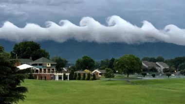 Waves in the Sky! Rare Cloud Formation Above Virginia Smith Mountain Lake is Mind-Blowingly Beautiful (View Pics)