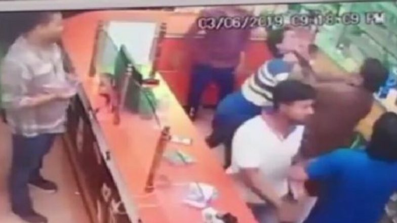 VVIP Arrogance? BJP National Vice-President Renu Devi's Brother Assaults chemist For 'Not Standing Up', Incident Caught on CCTV; Watch Video