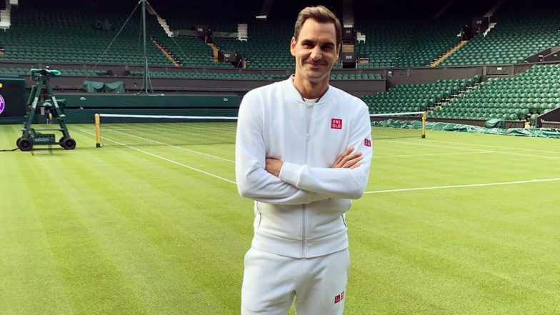 Roger Federer 'BACK' at Centre Court! Swiss Great Shares Pic in Pristine White Attire Ahead of Wimbledon 2019