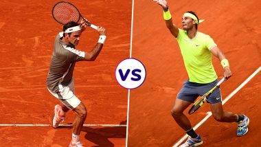 Roger Federer vs Rafael Nadal, French Open 2019 Semi-Final Live Streaming: Get Free Live Telecast Online, Match Time in IST and Channel Details in India