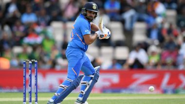 Rohit Sharma Departs After Scoring 140 Off Just 113 Balls During India vs Pakistan Match at Old Trafford, Manchester