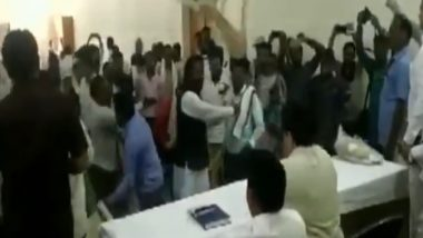 Ruckus at BSP Meeting in Maharashtra; Party Workers Hurl Chairs And Abuses at Each Other, Watch Video