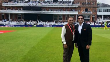 Sachin Tendulkar Shares Pic With 'Idol' Sunil Gavaskar From Lord's Cricket Ground, Remembers Team India's Historic 1983 World Cup Win