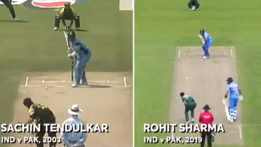 Sachin Tendulkar Replies to ICC After Getting Compared Rohit Sharma's Six During India vs Pakistan CWC 2019