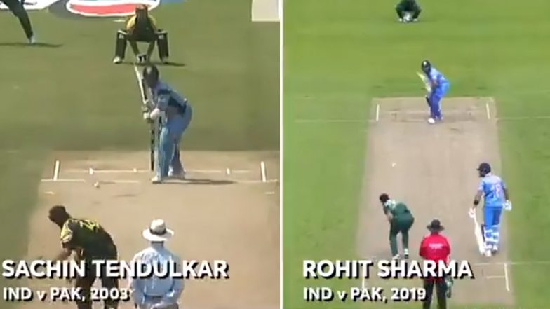 Sachin Tendulkar Replies to ICC After Rohit Sharma's Six in IND vs PAK CWC 2019 Is Compared to His From 2003 WC