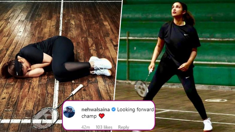 Parineeti Chopra Is Taking Immense Efforts To Ace Her Badminton Skills, Leaves Saina Nehwal Excited To Watch The Biopic - View Pics