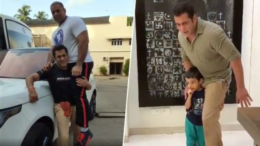 Salman Khan Playing With Nephew Ahil Sharma Will Melt You in a Minute! (Watch Videos)