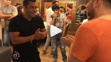 Salman Khan Plays The Hand Slap Game With His Nephews And Transports Us Back To Our School Days - Watch Videos