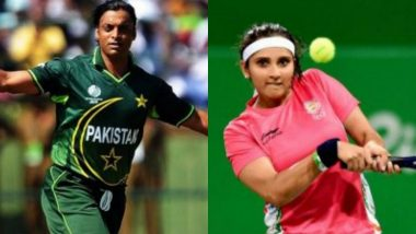 Shoaib Akhtar Defends Sania Mirza, Says Tennis Star 'Unlucky' to Get Criticised by Fans Every Time India vs Pakistan Takes Place