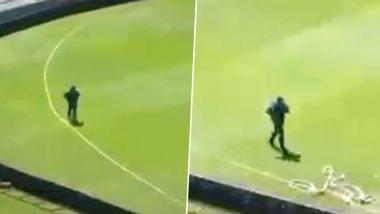 This Video of Sarfaraz Ahmed Running Alone at Lord's Cricket Ground Goes Viral; Twitterati Hails PAK Captain's Dedication