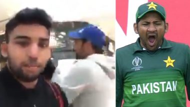 Sarfaraz Ahmed Called 'Fat Like a Pig' by Fan Over Fitness in Front of Pakistan Captain's Son, Twitter Criticises Angry Fan's Sick Outburst in This Video!