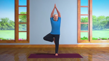 PM Narendra Modi Shares Video on 'Vrikshasana' Ahead of World Yoga Day on June 21
