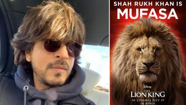 Shah Rukh Khan Is More Than Happy To Be a Part The Lion King With His Own 'Simba' Aryan Khan! Read Tweet