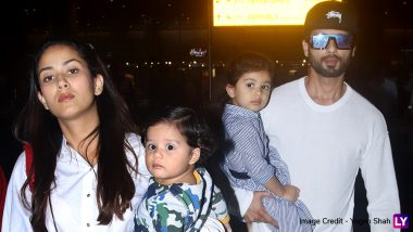 Shahid Kapoor and Mira Rajput's Recent Airport Pictures with Misha and Zain are Not to be Missed